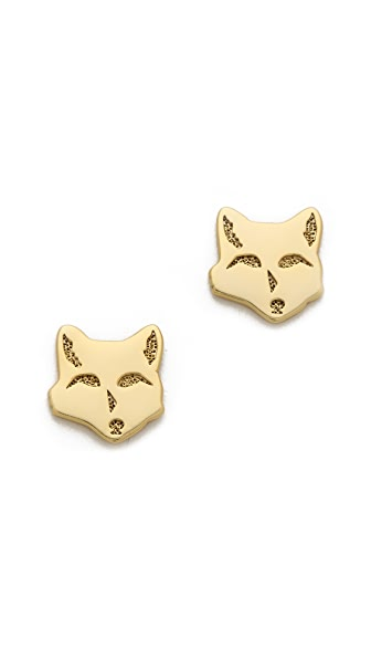 Gorjana Fox Stud Earrings