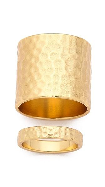 Gorjana Camila Hammered Ring Set