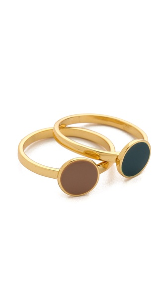 Gorjana Sunset Disc Ring Set