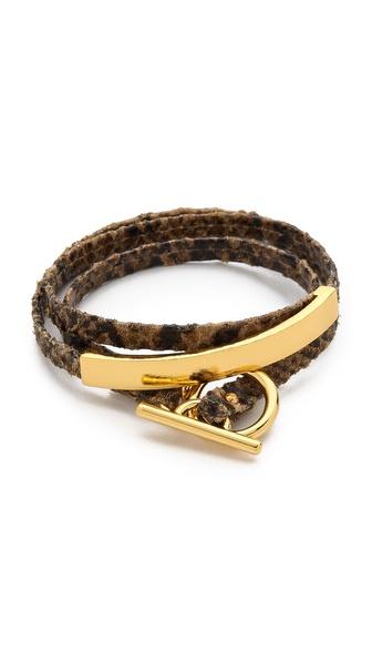 Gorjana Graham Leather Triple Wrap Bracelet
