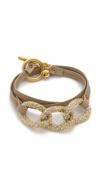 Gorjana Parker Shimmer Leather Wrap Bracelet