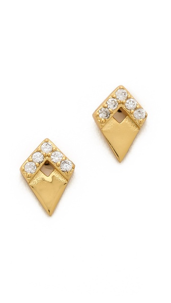 Gorjana Delano Deco Stud Earrings