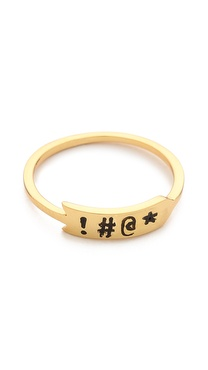 Gorjana Sassy Four Letter Word Ring