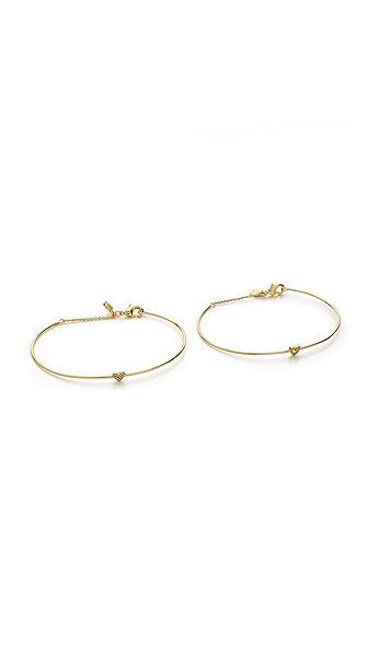Gorjana Shimmer Heart Friendship Bracelet Set