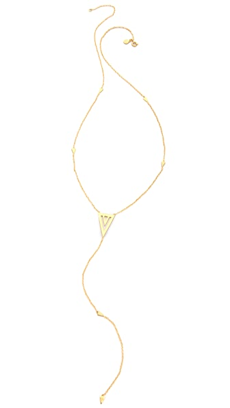 Gorjana Mika Statement Lariat Necklace