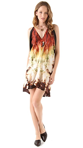 Maria Grachvogel Print Satin Mini Dress