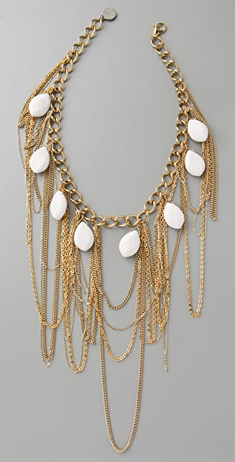 Gemma Redux White Jade Bib Necklace