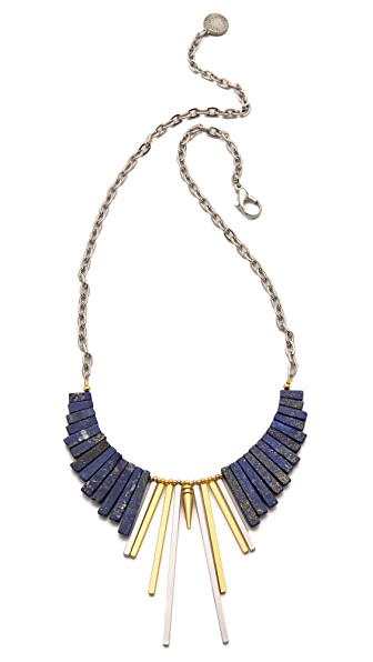 Gemma Redux Lapis Simple Bib Necklace