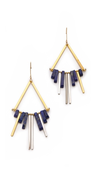 Gemma Redux Lapis & Mixed Metal Earrings