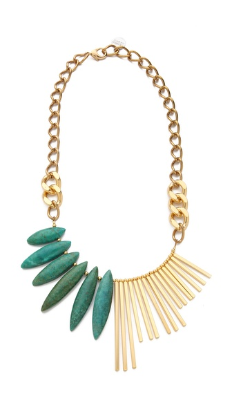Gemma Redux Turquoise Asymmetrical Necklace