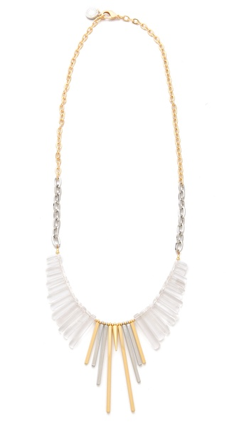 Gemma Redux Cracked Crystal Long Bib Necklace