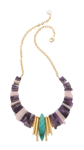 Gemma Redux Amethyst & Quartz Bib Necklace