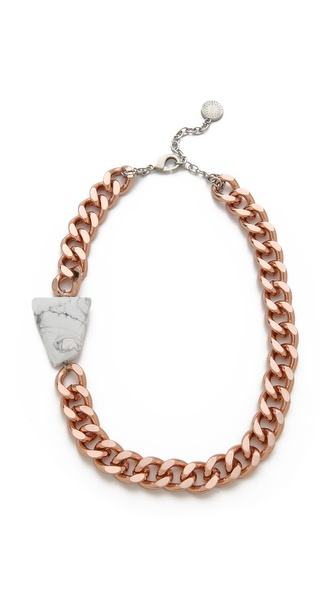 Gemma Redux Offset Howlite Stone Necklace