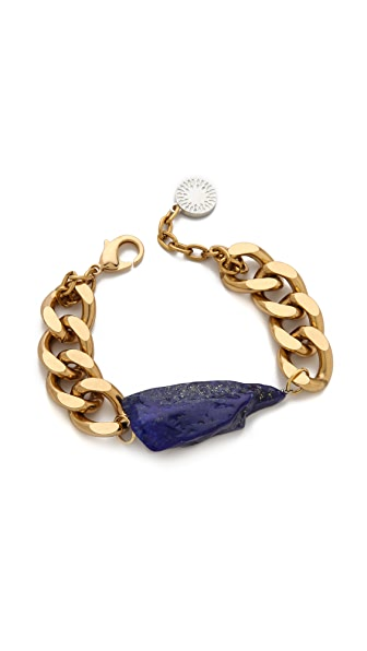 Gemma Redux Lapis Curb Chain Bracelet