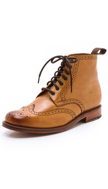 Grenson Sharp Cap Brogue Boots