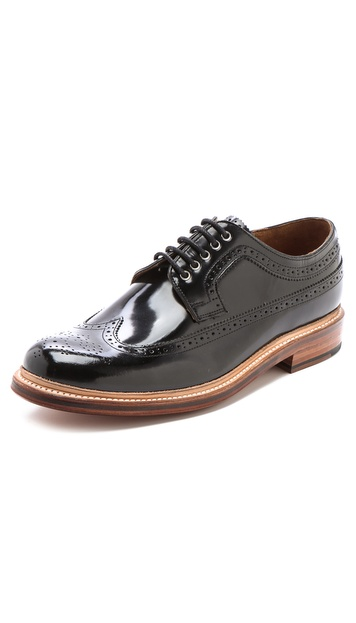 Grenson Sid Hi-Shine Wingtip Shoes