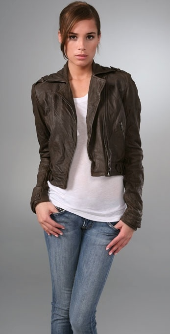 Gryphon The Mini Moto Leather Jacket