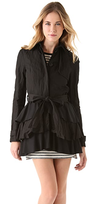 Gryphon Ruffle Trench Coat