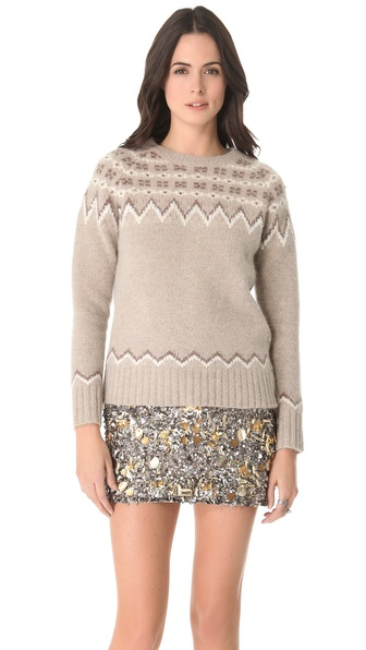 Gryphon Fair Isle Crew Neck Sweater