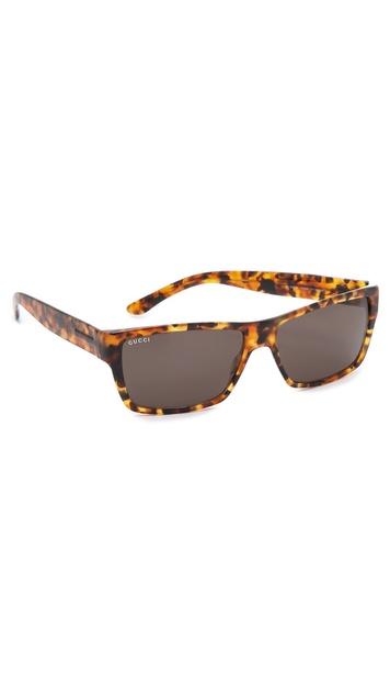 Gucci Havana Square Sunglasses - Havana