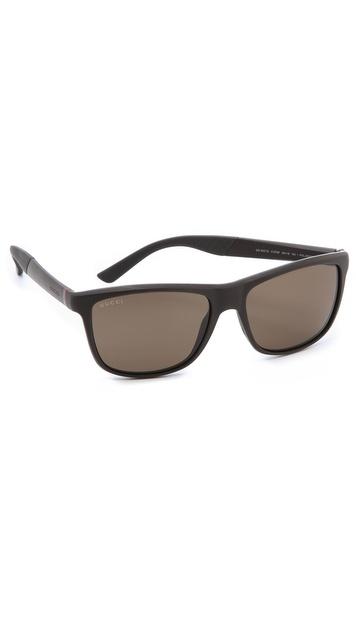 Gucci Polarized Square Sunglasses - Brown