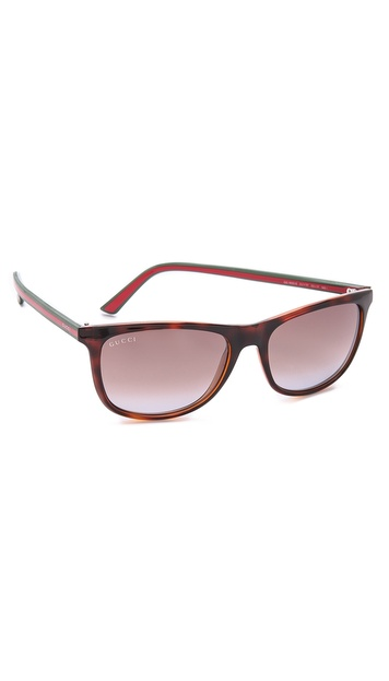 Gucci Square Sunglasses - Havana