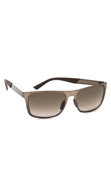 Gucci Sunglasses With Gradient Lenses - Brown