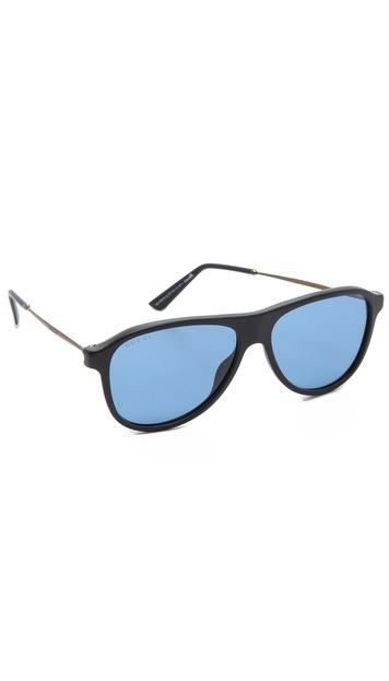 Gucci Aviator Sunglasses - Blue