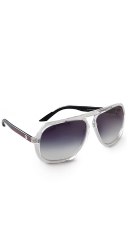 Gucci Oversized Aviator Sunglasses at Shopbop.com