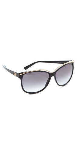 Gucci Oversized Sunglasses at Shopbop / East Dane