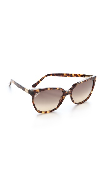 Gucci Oversized Sunglasses - Havana at Shopbop / East Dane