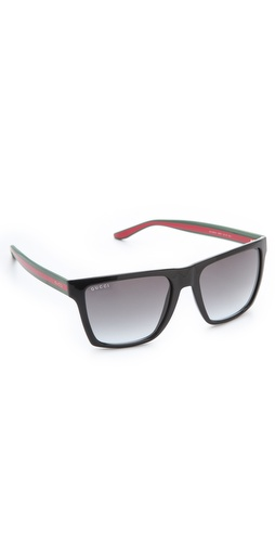 Gucci Oversized Squared Sunglasses at Shopbop.com