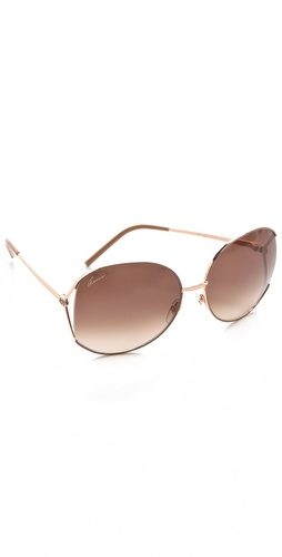 Gucci Glam Metal Frame Sunglasses at Shopbop.com