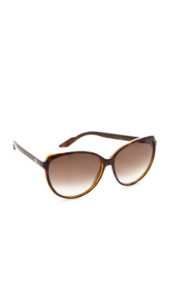 Gucci Youngster Cat Eye Sunglasses - Chocolate Havana/Brown at Shopbop / East Dane