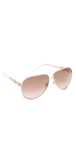 Gucci Metal Aviator Sunglasses at Shopbop.com