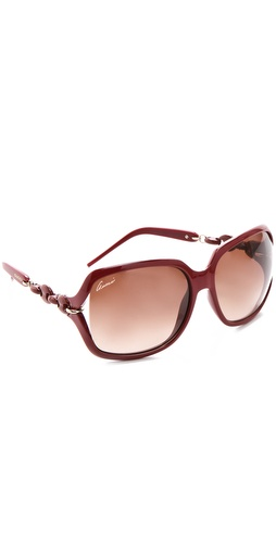 Gucci Chain Link Square Sunglasses at Shopbop.com