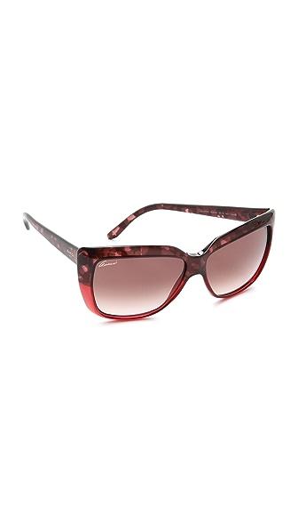 Gucci Two Tone Oversized Sunglasses