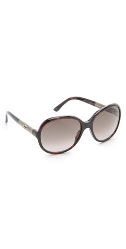 Gucci Oversized Round Sunglasses at Shopbop.com