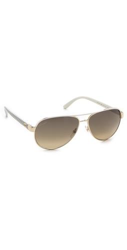 Gucci Aviator Sunglasses with Glitter Temples