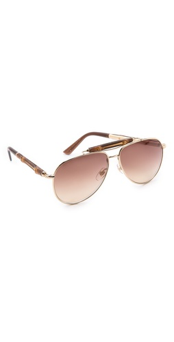 Gucci Aviator Sunglasses at Shopbop / East Dane