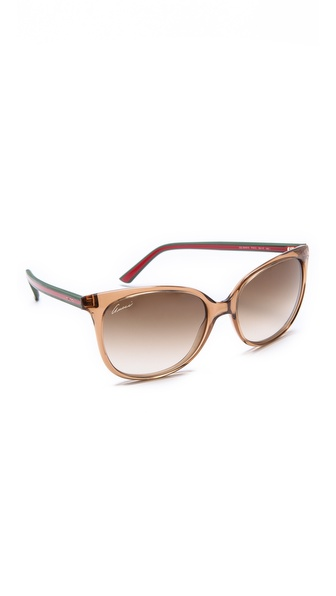 Gucci Cat Eye Sunglasses - Transparent Honey/Brown at Shopbop / East Dane