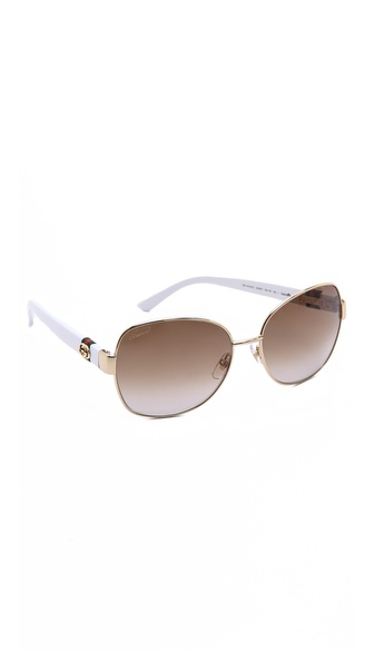 Gucci Oversized Glam Sunglasses - Gold/Brown Gradient at Shopbop / East Dane