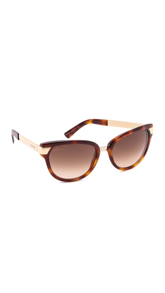 Gucci Cat Eye Sunglasses - Havana/Brown Gradient at Shopbop / East Dane