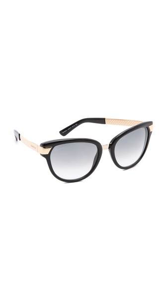 Gucci Cat Eye Sunglasses - Black/Green Gradient at Shopbop / East Dane