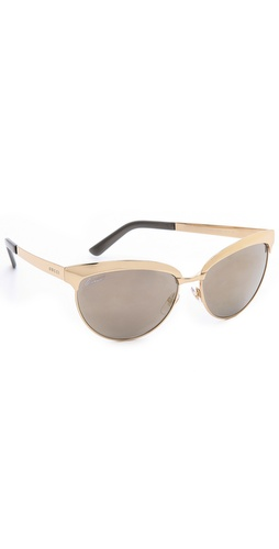 Gucci Mirrored Cat Eye Sunglasses at Shopbop / East Dane
