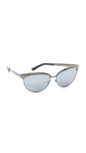 Gucci Mirrored Cat Eye Sunglasses - Dark Ruthenium/Black Mirror at Shopbop / East Dane