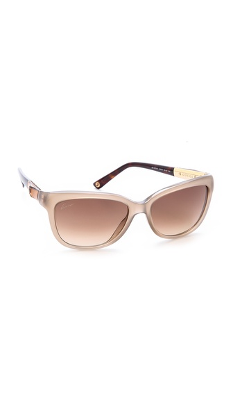 Gucci Bamboo Accent Sunglasses - Beige/Brown Gradient at Shopbop / East Dane