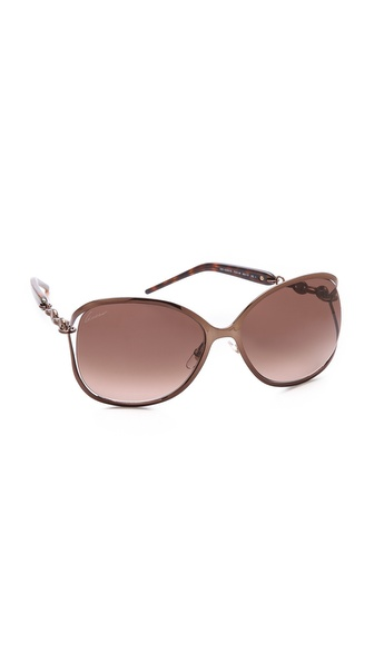 Gucci Twist Sunglasses - Bronze/Brown Gradient at Shopbop / East Dane