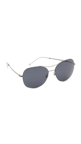 Gucci Aviator Sunglasses - Dark Ruthenium/Black Mirror at Shopbop / East Dane