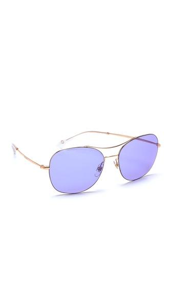 Gucci Aviator Sunglasses - Gold Copper/Lilac Blue Mirror at Shopbop / East Dane